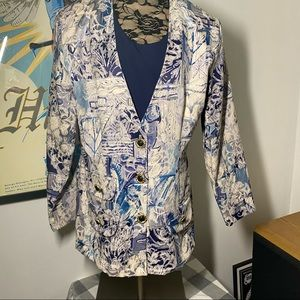 Vintage 80s Blazer with removable bib